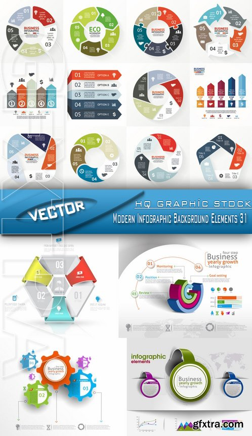 Stock Vector - Modern Infographic Background Elements 31