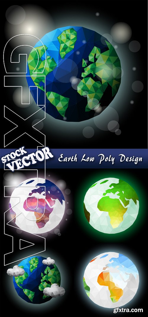 Stock Vector - Earth Low Poly Design