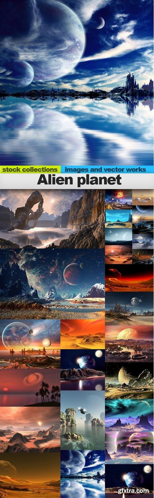 Alien planet, 25 x UHQ JPEG