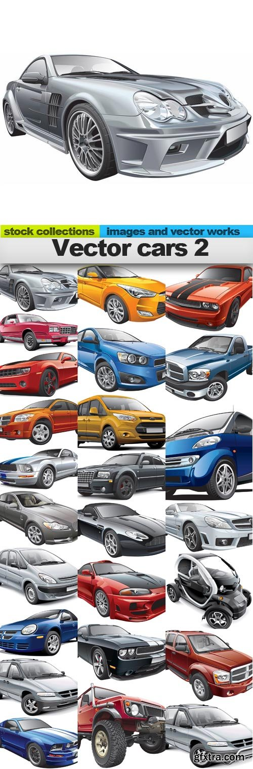 Vector cars 2, 25 x EPS