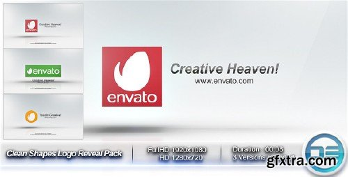 VideoHive - Clean Shapes Logo Reveal Pack 10115540