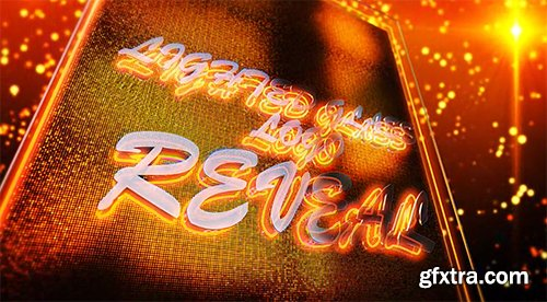 Videohive Lighted Glass Logo Reveal 8850023