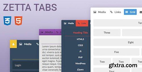 CodeCanyon - Zetta Tabs v1.0.0 - CSS Responsive Tabs