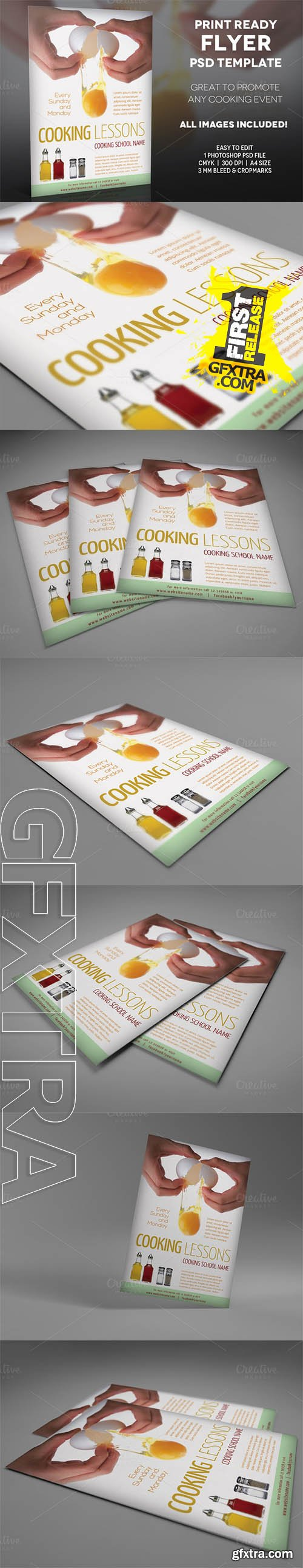 Cooking Lessons 2 - A4 Flyer Template - CM 195845