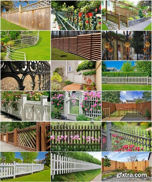 Collection of various types of decorative fence for garden and gardening 25 HQ Jpeg