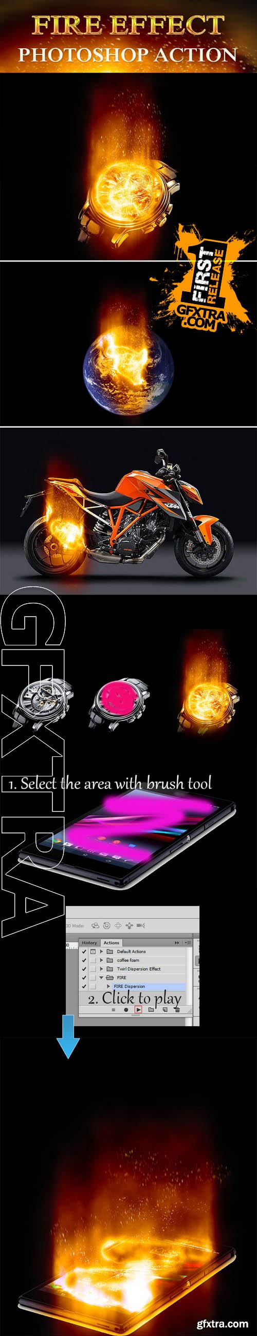 Fire Effect Photoshop Action - Graphicriver 10450847