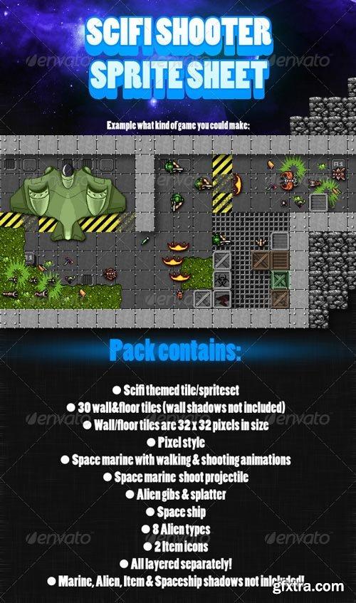 GraphicRiver - Scifi Shooter Sprite Sheet