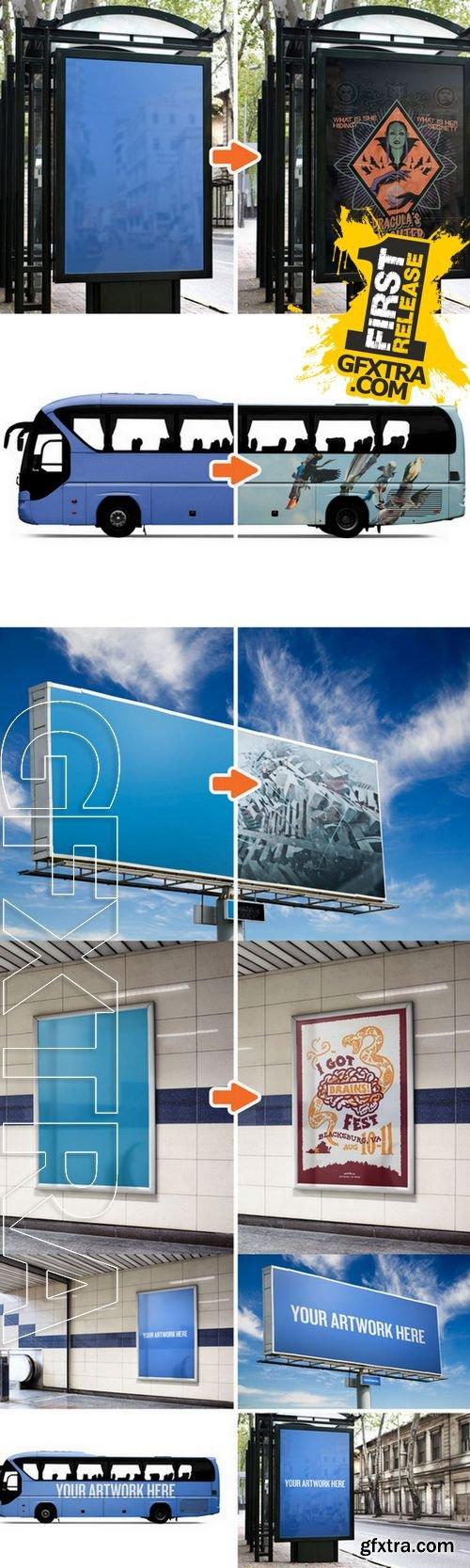 City Advertising Mockup Templates - CM 195640