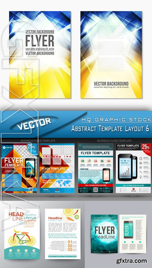 Stock Vector - Abstract Template Layout 6