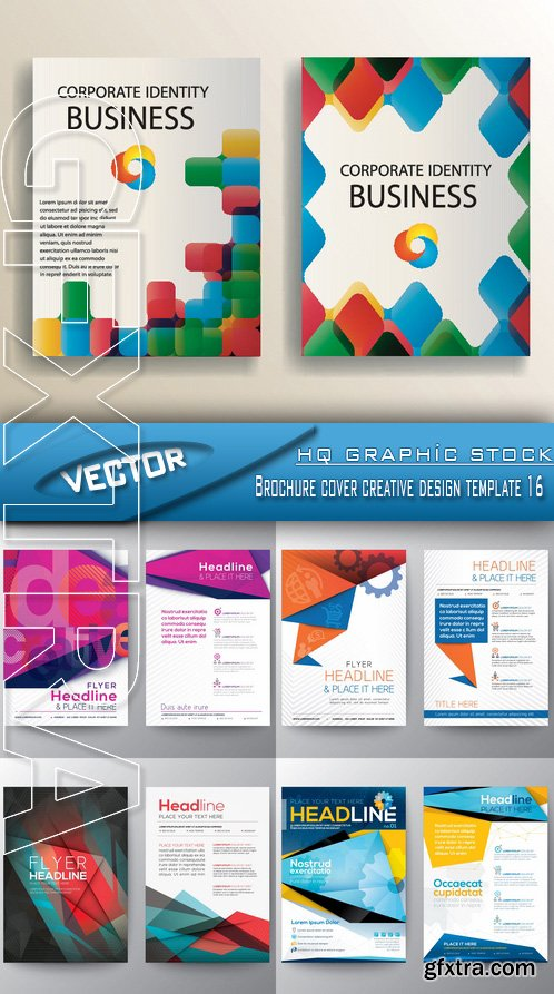 Stock Vector - Brochure cover creative design template 16