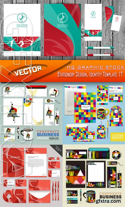 Stock Vector - Stationery Design, Identity Template 17
