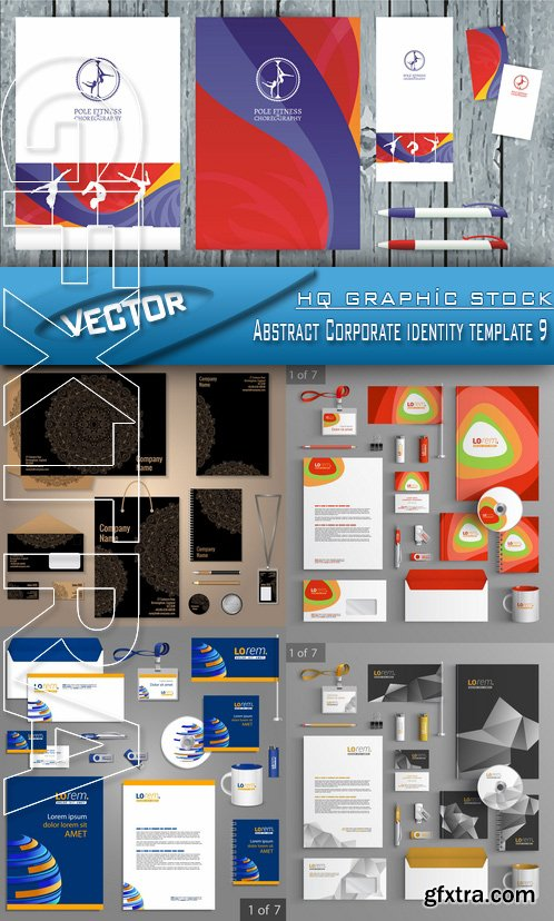 Stock Vector - Abstract Corporate identity template 9
