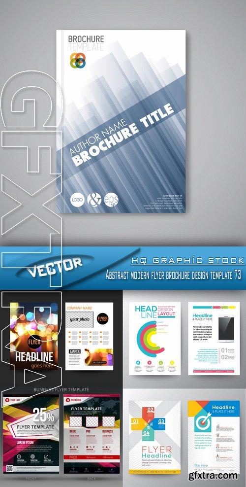 Stock Vector - Abstract modern flyer brochure design template 73