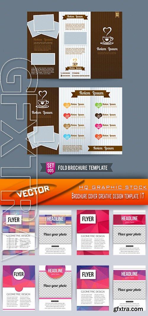 Stock Vector - Brochure cover creative design template 17