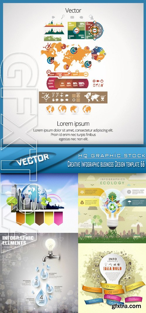 Stock Vector - Creative Infographic business Design template 66