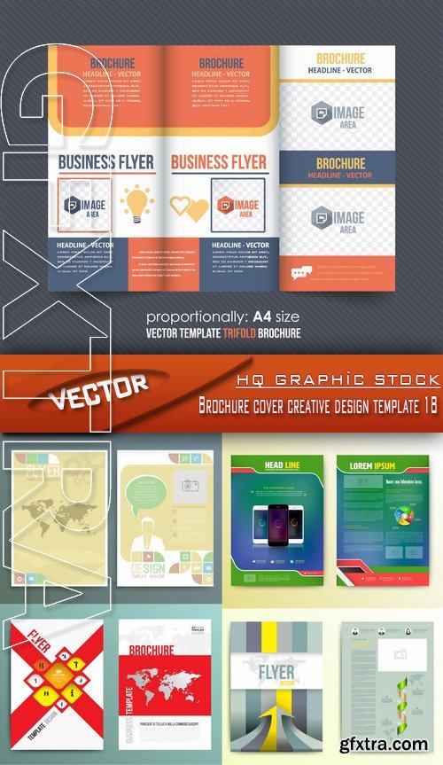Stock Vector - Brochure cover creative design template 18