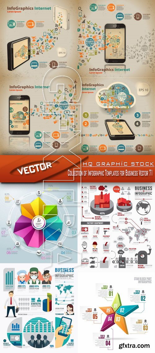 Stock Vector - Collection of Infographic Templates for Business Vector 71