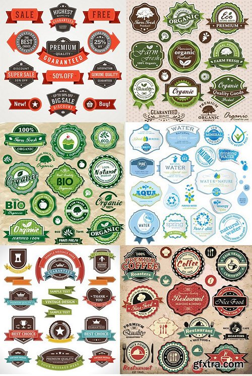 SS Labels - Vector Collection, 25xEPS