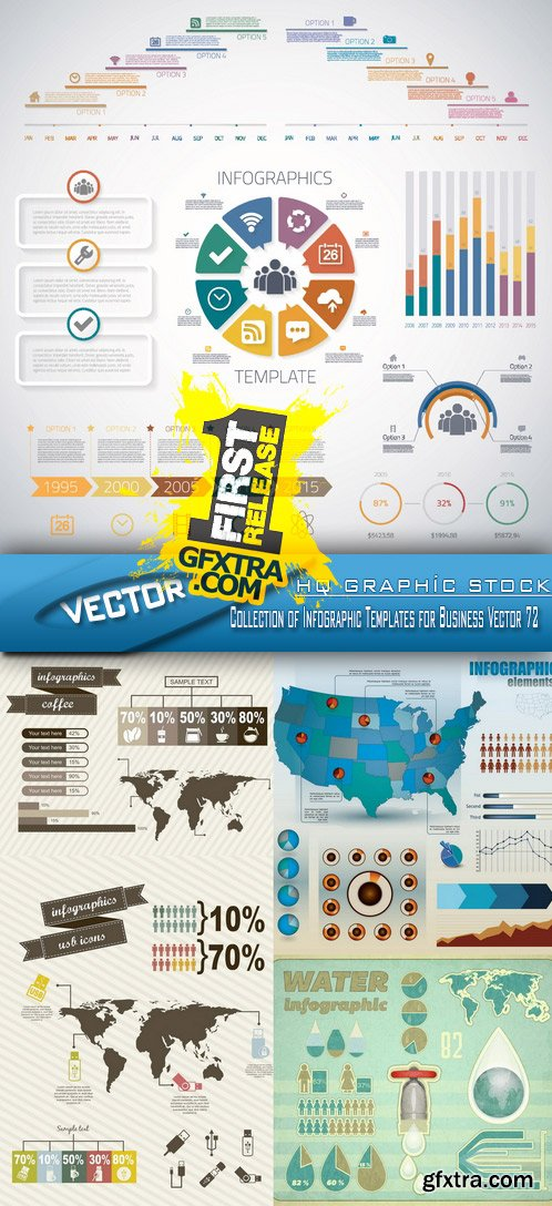 Stock Vector - Collection of Infographic Templates for Business Vector 72