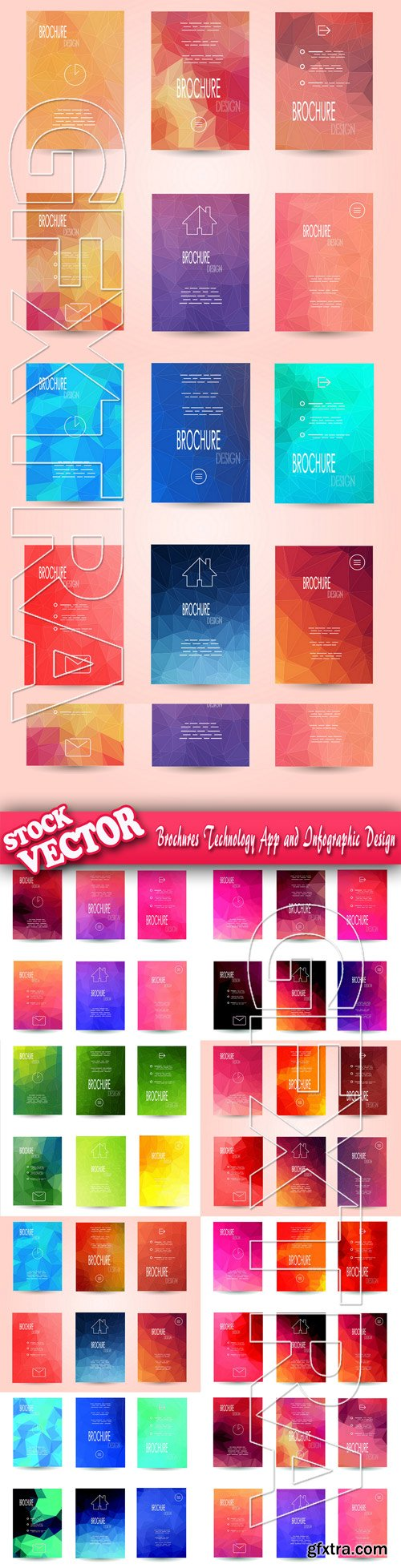 Stock Vector - Brochures Technology App and Infographic Design