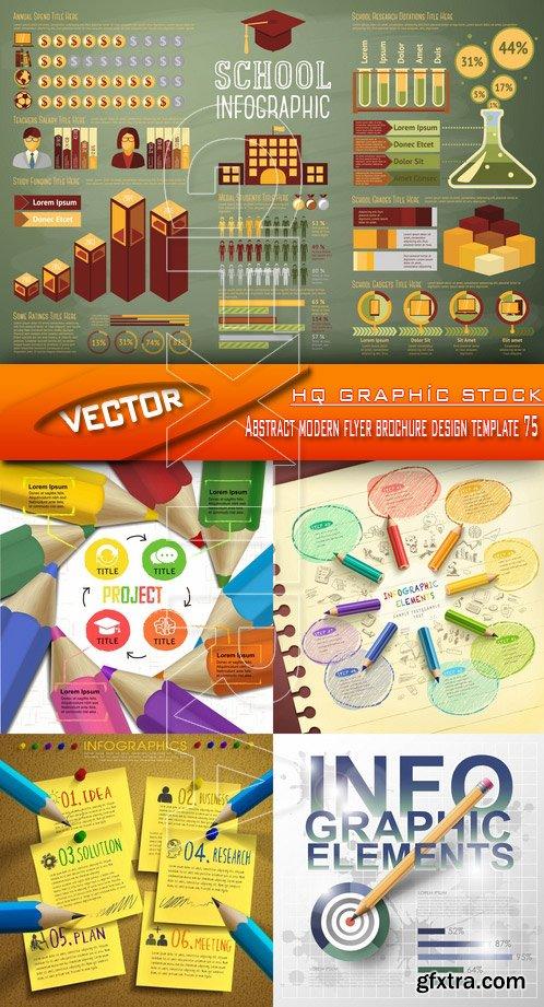 Stock Vector - Abstract modern flyer brochure design template 75