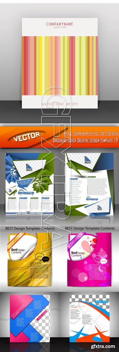 Stock Vector - Brochure cover creative design template 19
