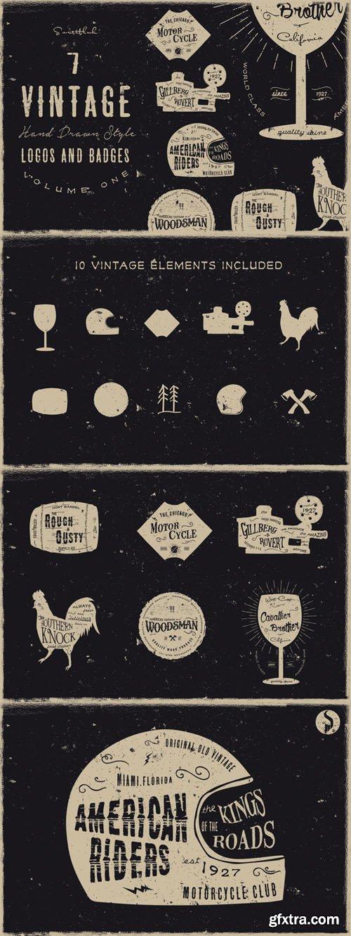 Vintage Handdrawn Logos Vol 1 (Sale) - CM 34713