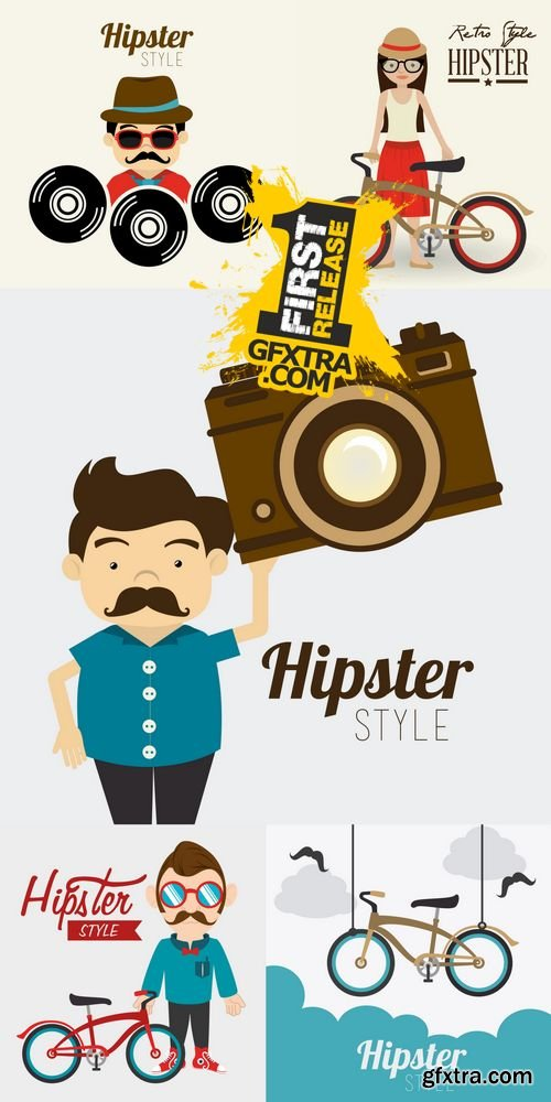 Vector - Hipster Design