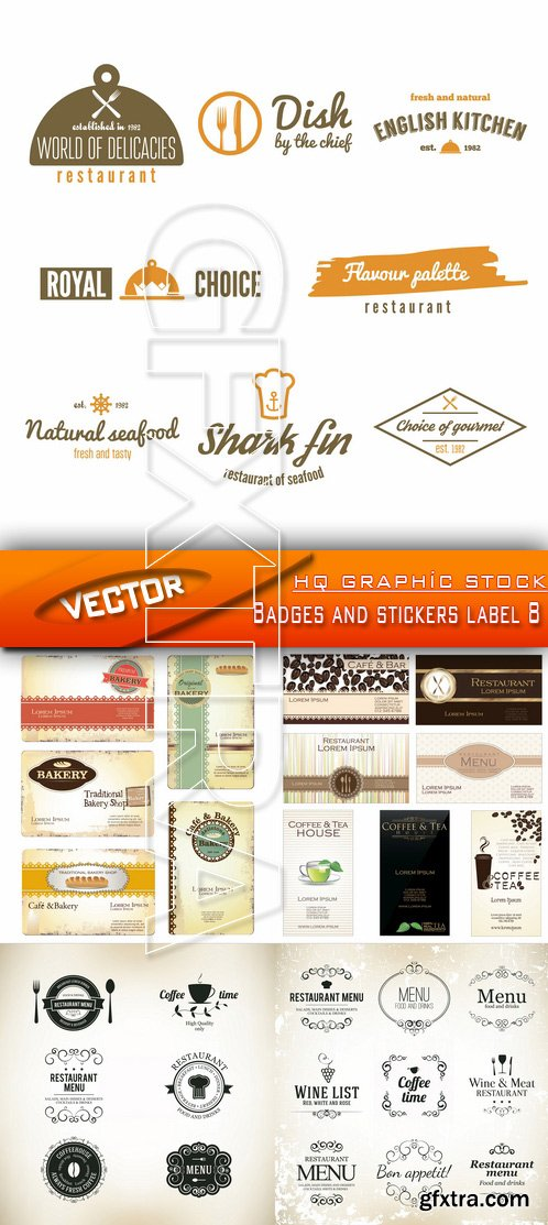 Stock Vector - Badges and stickers label 8