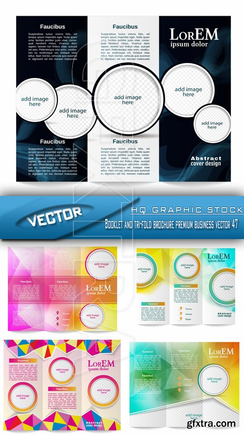 Stock Vector - Booklet and tri-fold brochure premium business vector 47