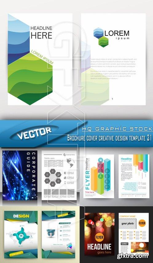 Stock Vector - Brochure cover creative design template 21