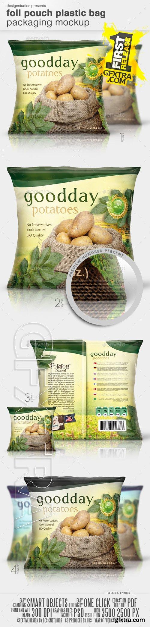 GraphicRiver - Foil Pouch Plastic Bag Packaging Mock-Up 10545171