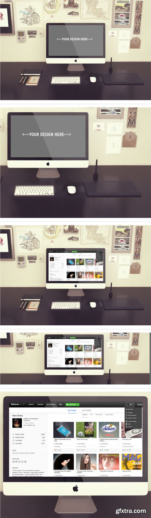 PSD Mock-Up's - Photorealistic Devices iMac
