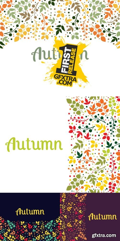 Vector - Autumn Falling Leaves Background