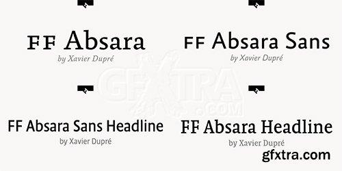 Absara Font Family Bundle - 60 Fonts $3200
