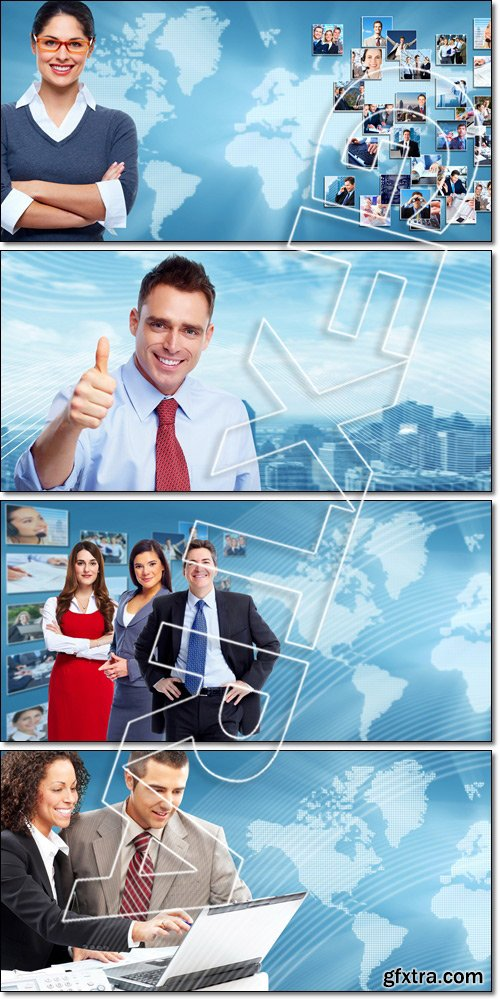 Business collage background - Stock photo
