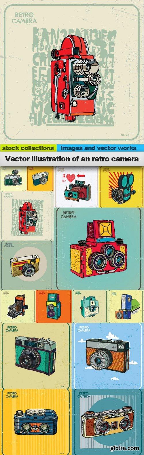 Vector illustration of an retro camera, 15 x EPS