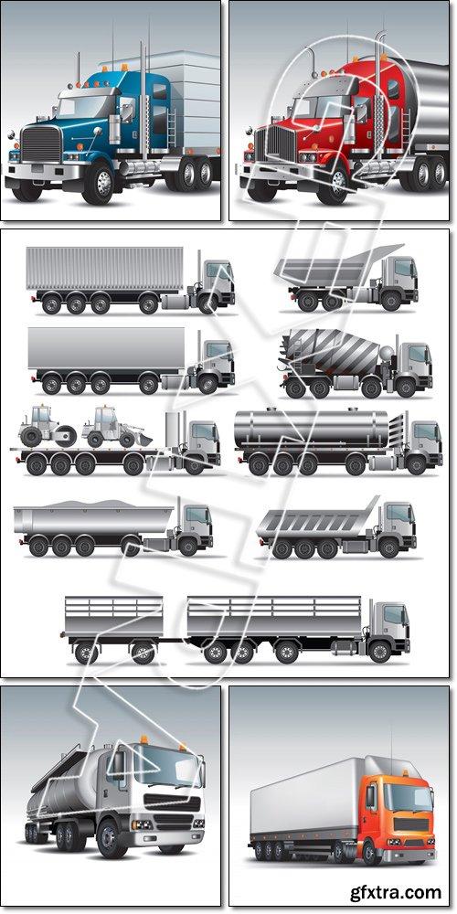 Cargo delivery truck - Vector