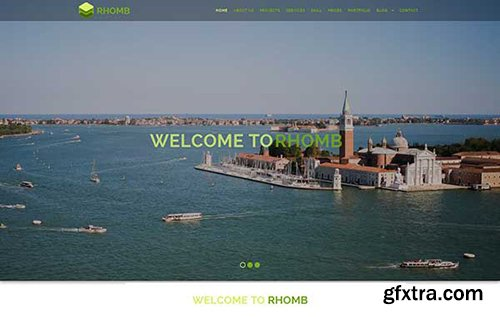 HotbootStrap - Rhomb – One Page Responsive HTML Template