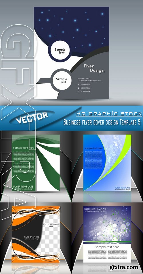 Stock Vector - Business flyer cover design Template 5