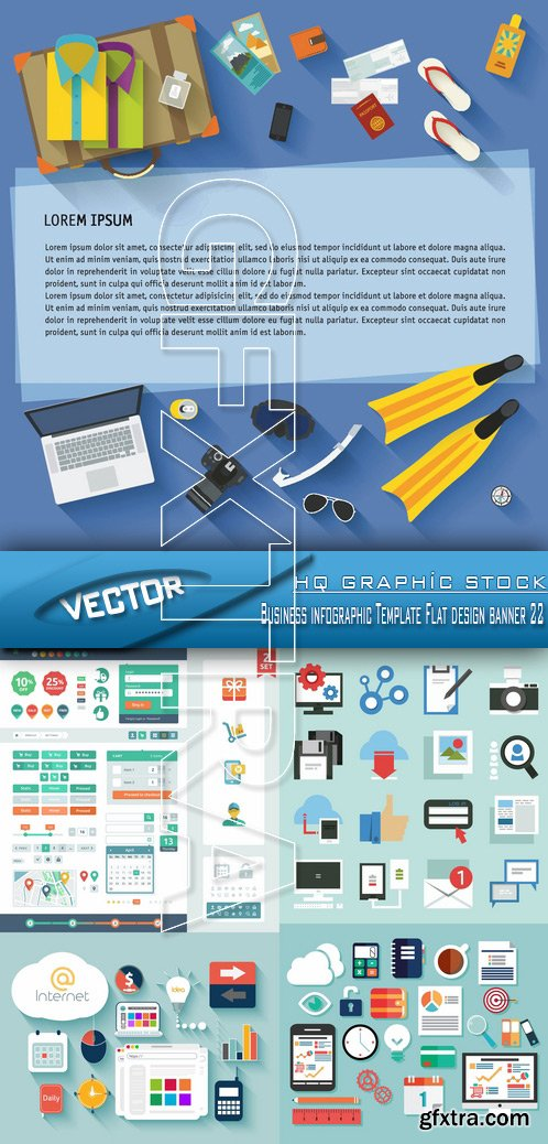 Stock Vector - Business infographic Template Flat design banner 22