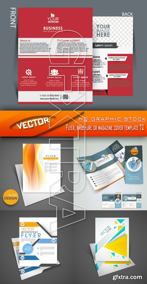 Stock Vector - Flyer, brochure or magazine cover template 72
