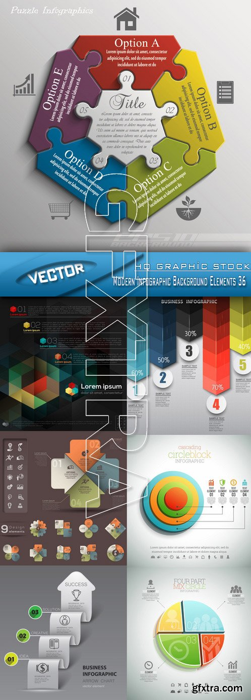 Stock Vector - Modern Infographic Background Elements 36