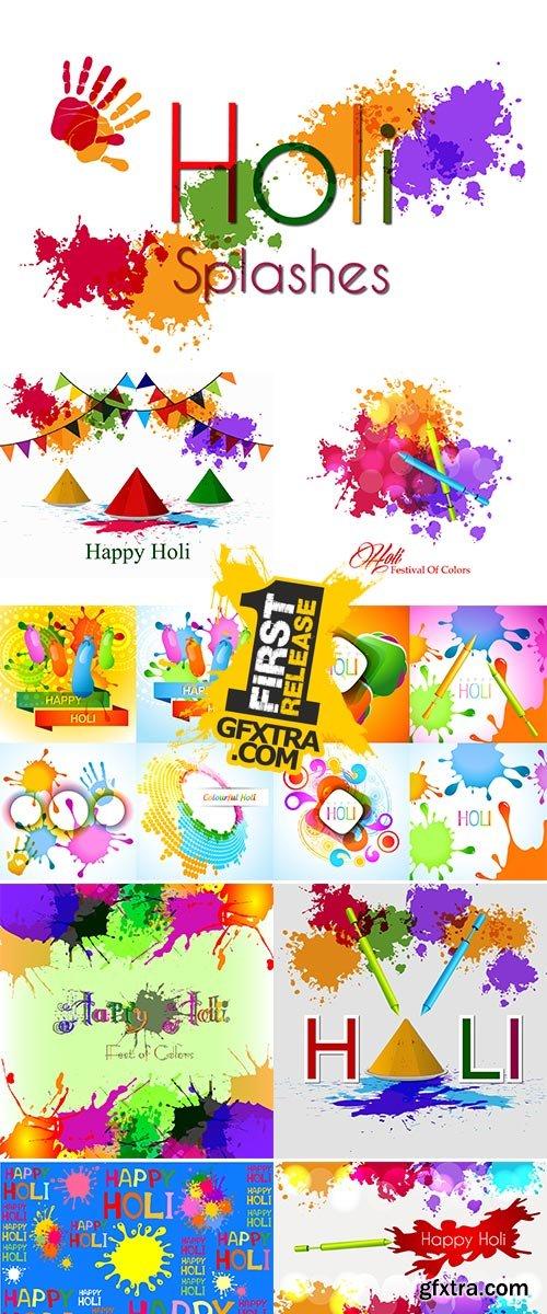 Stock: Happy holi, vector