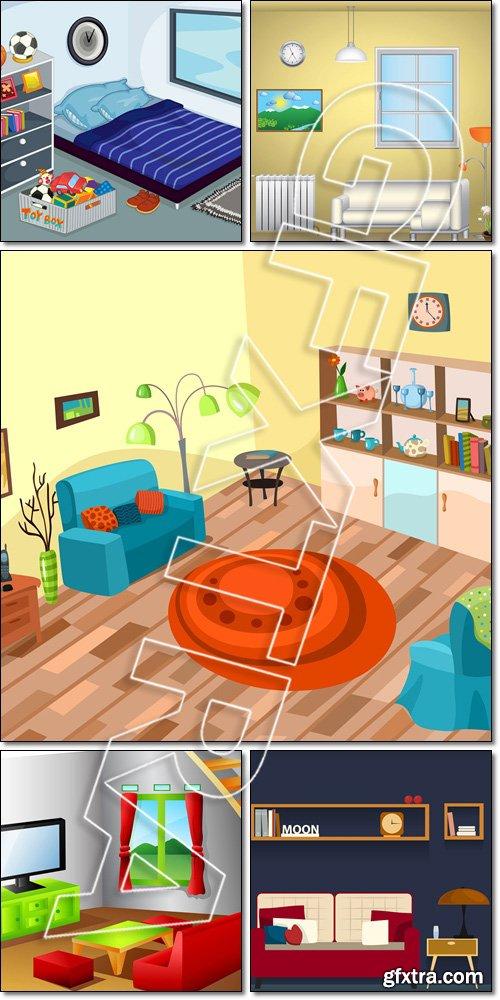 Interior-living room - Vector