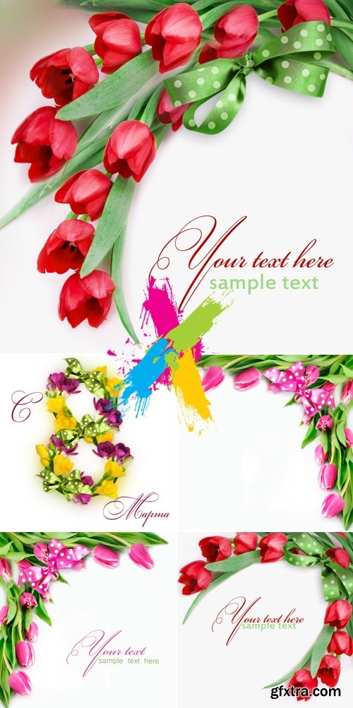 Stock Photo - Postcards with Flowers