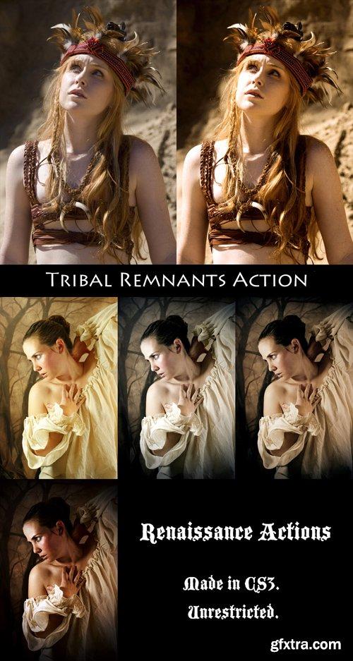 Photoshop Actions - Renaissance & Tribal Remnants
