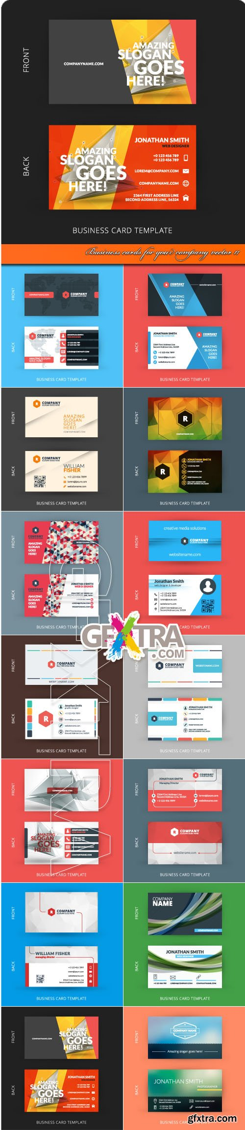 Business cards for your company vector 11