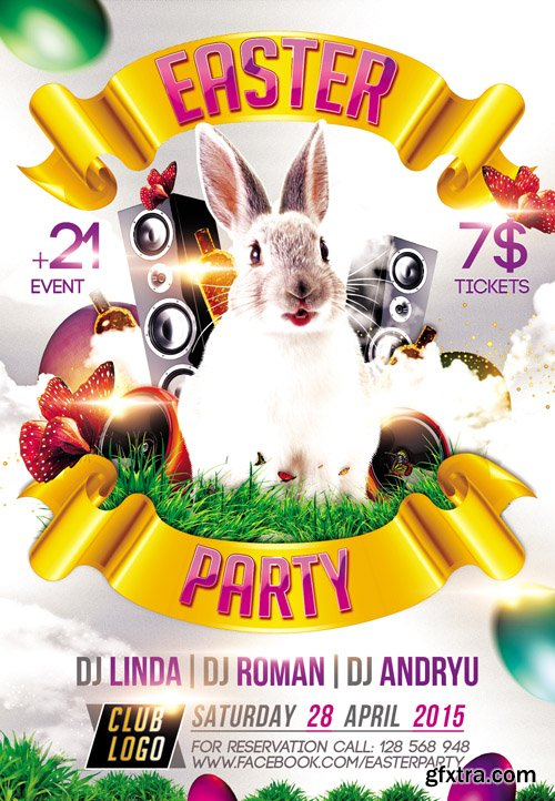 Easter Party 2015 – Flyer PSD Template plus FB Cover