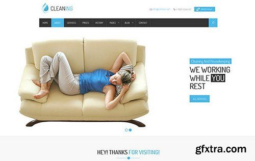 CreativeMarket - Cleaner Service and Housekeeping